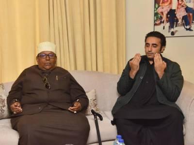 بلاول بھٹو سےروضہ رسولﷺکےمتولی اورکلیدبردار کی ملاقات،پاکستان کی سلامتی اورآصف زرداری کی صحت یابی کےلئے دعا