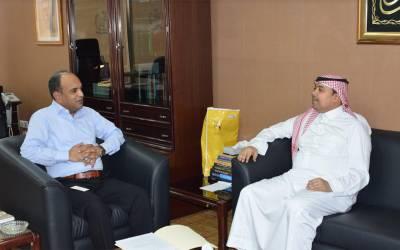 `پاکستان کے قونصل جنرل خالد مجید کی چیئرمین سعودی پاک انڈسٹریل اینڈ ایگریکلچر انویسٹمنٹ کمپنی سلطان محمد حسن عبدالرئوف سے ملاقات