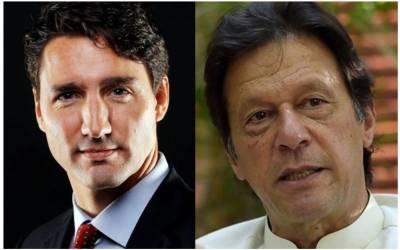 وزیر اعظم کا جسٹن ٹروڈو سے ٹیلی فونک رابطہ ،انتخابا ت میں کامیابی پر مبارکباد ، مقبوضہ کشمیر کی تازہ ترین صورتحال سے آگاہ کیا