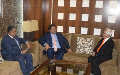 وفاقی وزیر فواد چودھری کی جدہ میں سائنس ڈپلومیسی ورکشاپ کے دوران ملائیشیاء کے وزیراعظم کے معاون خصوصی برائے سائنس ڈاکٹر عبدالحمید ذکری سے ملاقات