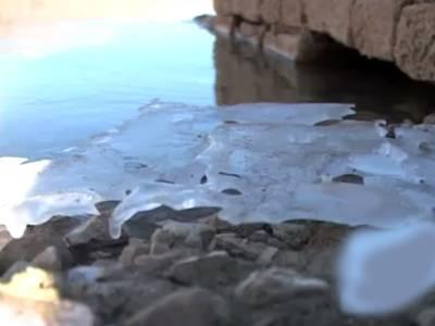 یخ بستہ موسم میں کوئٹہ کی خوبصورت ہنہ جھیل کا پانی برف میں تبدیل