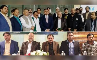 بانی پاکستان قائد اعظم محمد علی جناح ، مسلم لیگ ن کے قائد محمد نواز شریف اور یو اے ای میں پی ایم ایل این کے معمار چودھری نور الحسن تنویر کی سالگرہ کی تقریب