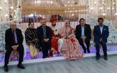 پاک سرزمین پارٹی ریاض کے صدر حنیف بابر کی صاحبزادی رشتہ ازدواج میں منسلک ہوگئیں، تقریب میں سفیرِ پاکستان سمیت نمایاں افراد کی شرکت