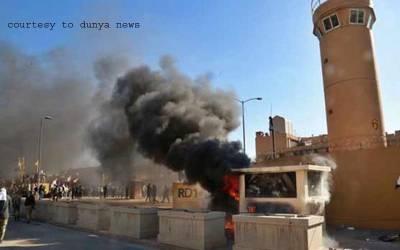 امریکا کا بغداد میں ایک اور فضائی حملہ، 2 گاڑیاں تباہ، 6 افراد جاں بحق