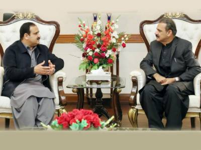 وزیراعلیٰ عثمان بزدار سے جنرل (ر) عاصم سلیم باجوہ کی ملاقات،سی پیک کے منصوبوں پر کام کی رفتار مزید تیز کرنے پر اتفاق