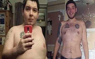 بھاری بھرکم نوجوان نے موبائل پر ویڈیو گیم کھیل کھیل کر 63 کلو وزن کم کرلیا