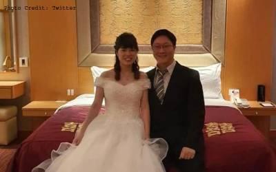 کروناوائرس:چینی جوڑے کی اپنی ہی شادی میں بذریعہ ویڈیو لنک شرکت