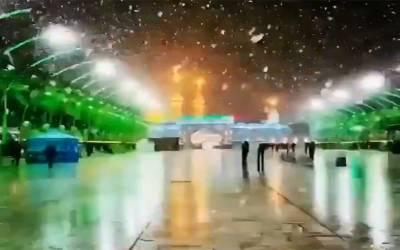 کربلا اور بغداد میں پہلی بار برفباری، دیکھنے والے دیکھتےہی رہ گئے