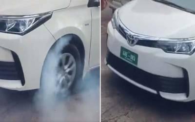 سرکاری گاڑی پر ڈرفٹنگ اور برن آوٹ مارنے کی ویڈیو نے سوشل میڈیا پر ہنگامہ برپا کر دیا
