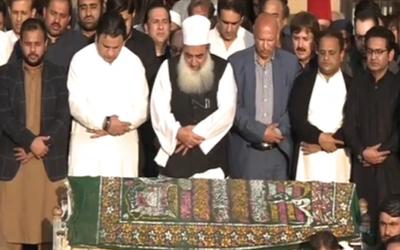 نعیم الحق کی نماز جنازہ ادا،کس نے پڑھائی؟