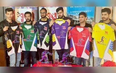 دبئی: انٹرنیشنل کرکٹ لیگ کی کٹ لانچنگ اور ٹرافی کی رونمائی برج خلیفہ میں منعقد