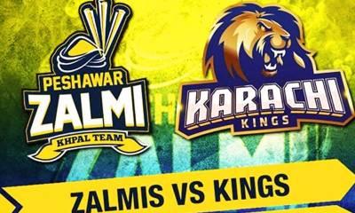پی ایس ایل سیزن 5 ، پشاور زلمی نے کراچی کنگز کے خلاف ٹاس جیت لیا
