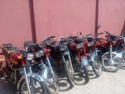 موٹر سائیکلیں چوری کرنے والے 6 رکنی گینگ کا سرغنہ گرفتار،چوروں کی عمریں جان کر آپ کانوں کو ہاتھ لگانے پر مجبور ہو جائیںگے