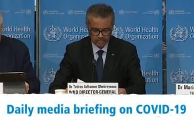کرونا وائرس 44 ممالک میں پھیل گیا، ڈبلیو ایچ کے سربراہ نے انتہائی پریشان کن اعداد و شمار جاری کردیے