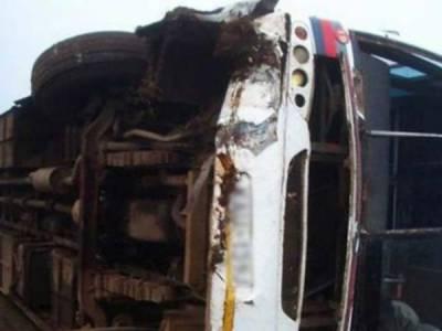 حب: زائرین کی بس الٹنے سے 5 افراد جاں بحق