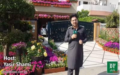شوق کا کوئی مول نہیں، لاہور کا وہ گھر جسے مہنگے ترین گملوں اور پھولوں سے سجایا گیا ہے