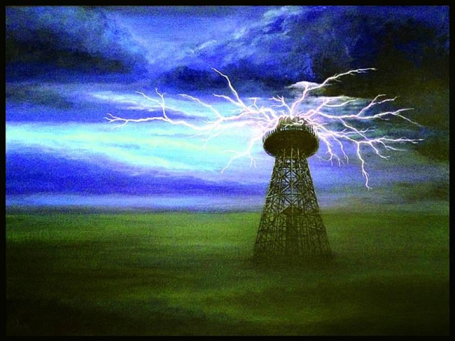 تمام دنیا کو بجلی فراہم کرنے کی صلاحیت سے لیس ٹاور کی تنصیب