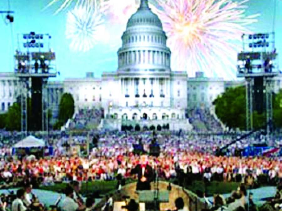 واشنگٹن، امریکہ کے یوم آزادی کے موقع پروائٹ ہاﺅس کے سامنے آتش بازی کا منظر