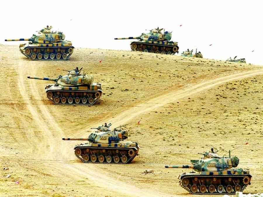 انقرہ: ترک ٹینک بارڈر پر گشت کر رہے ہیں
