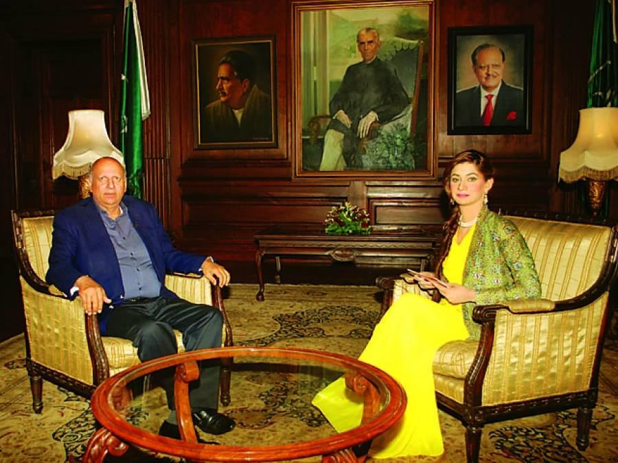 """پروگرام """"پی ٹی وی گیسٹ""""میں آج گورنر پنجاب کا انٹرویو نشر کیا جائے گا"""
