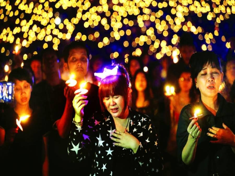 ٹوکیو: خواتین عبادت میں مصروف ہیں