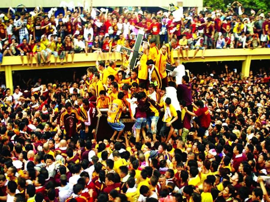 منیلا: ہزاروں لوگ مذہبی تہوار میں شریک ہیں