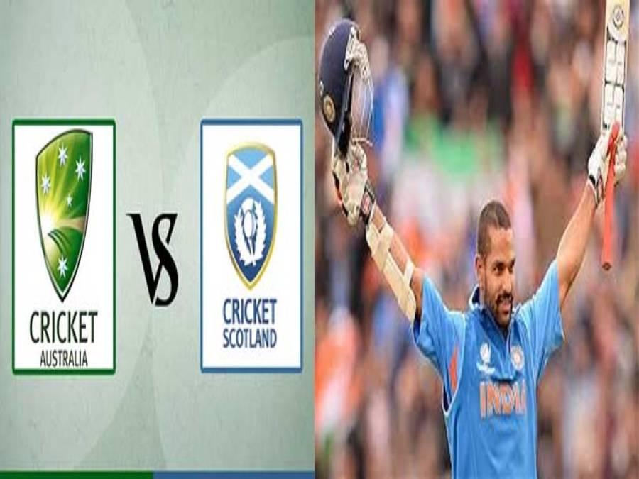 بھارت کی چھٹی کامیابی،آسٹریلیا یکطرفہ مقابلے میں سکاٹ لینڈ کیخلا ف کامیاب