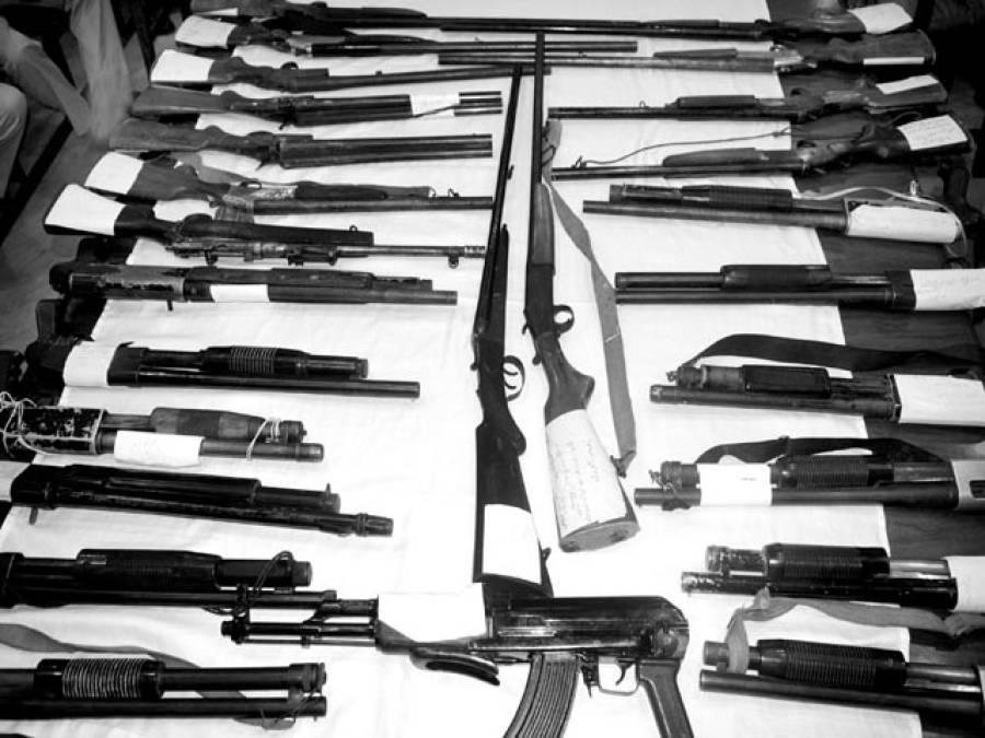 انویسٹی گیشن پولیس نے 40لاکھ سے زائد مالیت کا ناجائز اسلحہ برآمد کر لیا ، 55ملزم گرفتار