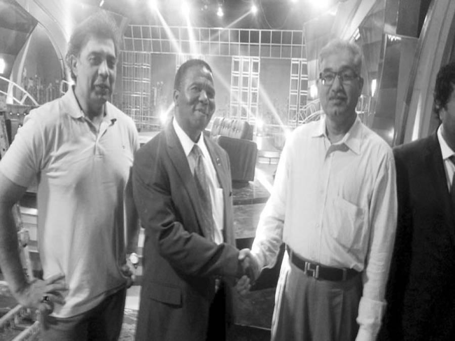 پرنس موزی ڈلامینی کی پی ٹی وی لاہورکے جنرل مینجر بشارت خان سے ملاقات