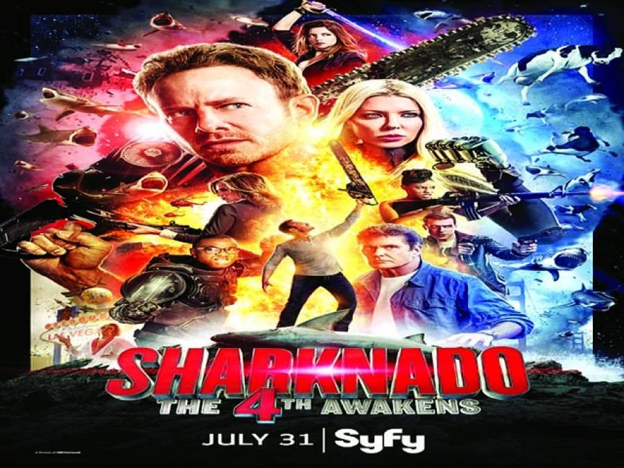 ہالی ووڈ فلم ''شارک ناڈو 4'' کا ٹیزر ٹریلر جاری کردیاگیا