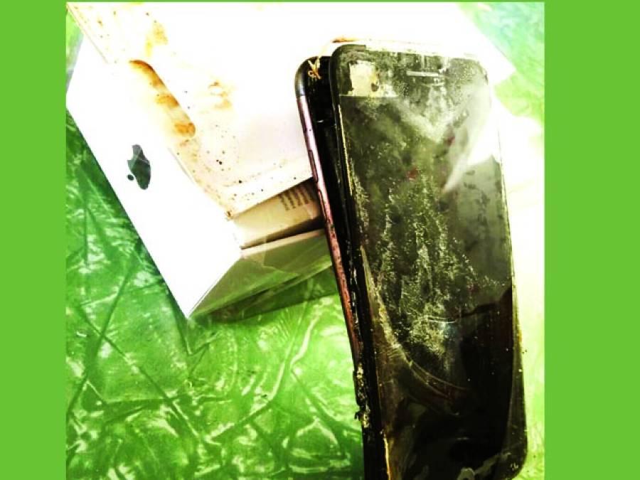 نیا آئی فون 7 منگوانے والے شخص نے جب ڈبہ کھولا تو جلا موبائل نکلا