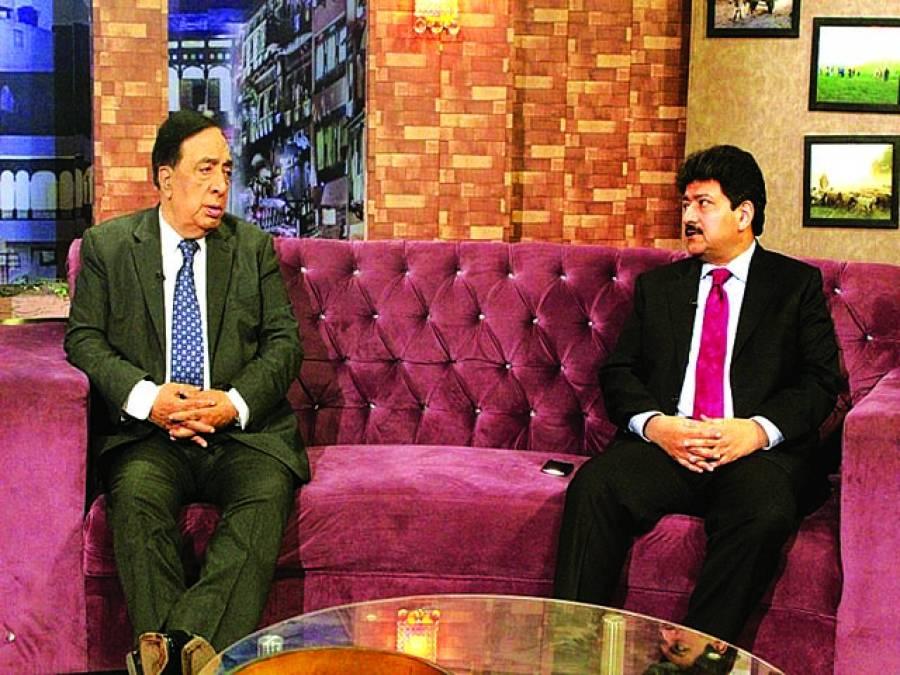 حامد میر کی پی ٹی وی کے پروگرام ''کھوئے ہووں کی جستجو''میں شرکت