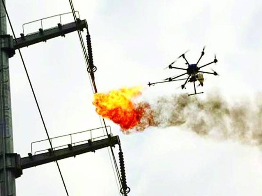ہائی وولٹیج تاروں کی صفائی کرنیوالا ڈرون تیار