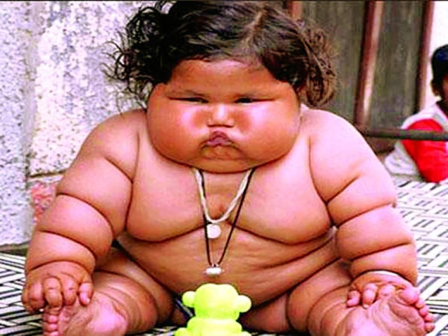 8 ماہ کی بچی کا وزن17 کلو