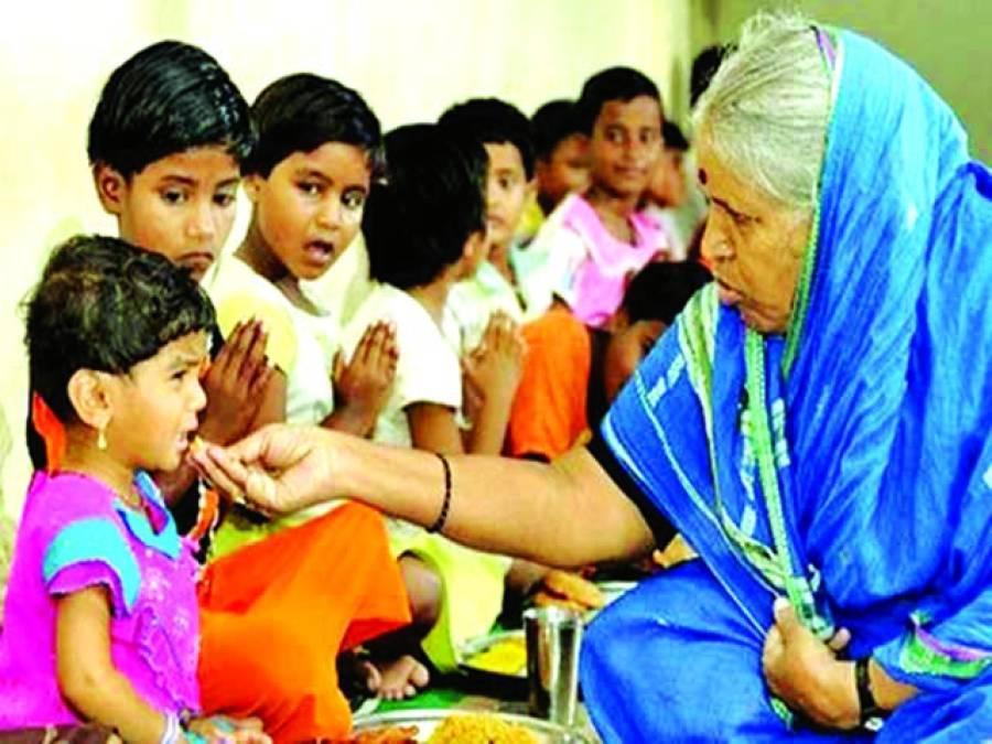 1400 بچوں کی کفالت کرنے والی خاتون