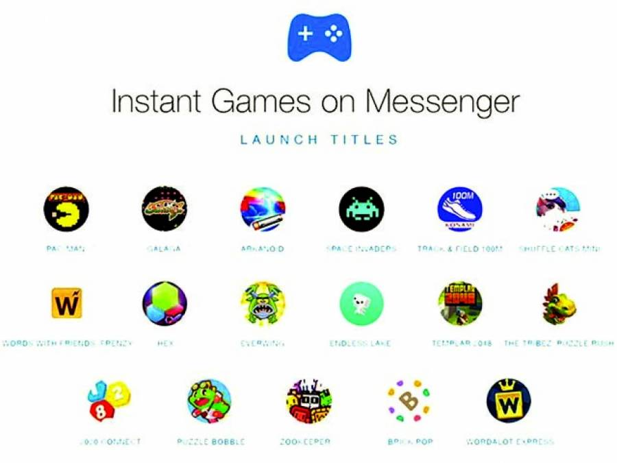سیلیکون ویلی،فیس بک میسنجر پر گیمز کھیلنا اب بہت آسان