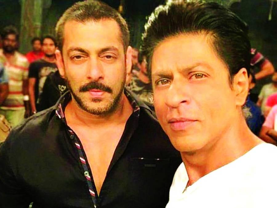 فلم کے سیٹ پر شاہ رخ اور سلمان کی سیلفی وائرل