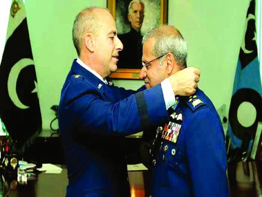پاک فضائیہ کے سربراہ سہیل امان کو امریکہ کے اعلیٰ ملٹری اعزاز سے نوازا گیا