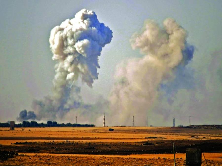 دمشق: شام کے علاقے ورعا میں سرکاری فورسز اورملیشیاکے درمیان لڑائی کے بعد ایک علاقے سے دھویں کے بادل اٹھ رہے ہیں