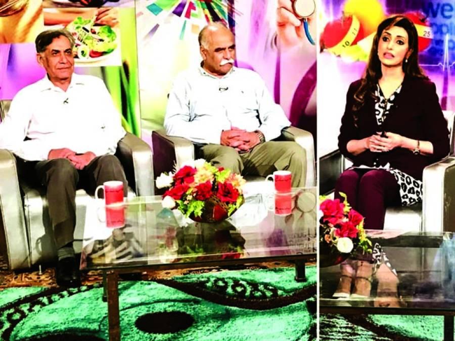 پی ٹی وی کے پروگرام ''صحت سب کیلئے ''کی ریکارڈنگ