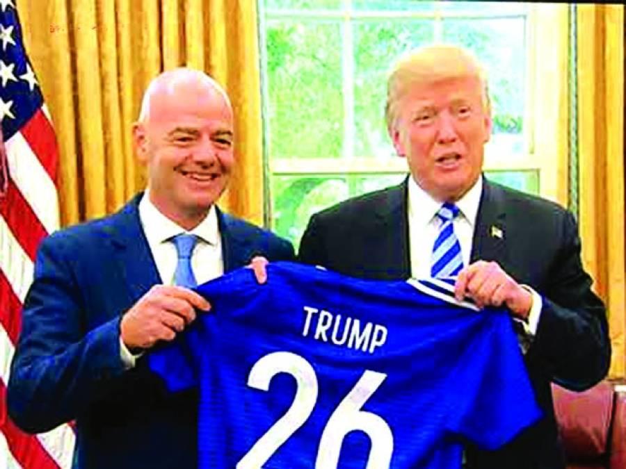 امریکی صدر ڈونلڈ ٹرمپ سے فیفا صدر کی ملاقات