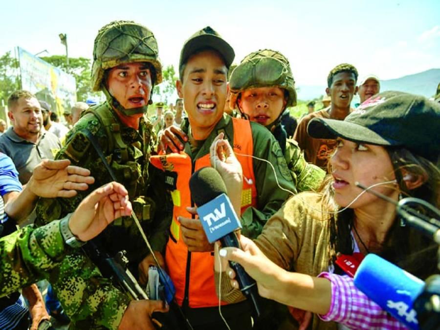 کراکس:وینزویلا کے فوجیوں نے بولیویا کے ایک فوجی کو پکڑ لیا جسے میڈیا پر پیش کیا جا رہا ہے