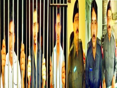 کوٹ عبدالمالک بھتہ مانگنے اور ڈکیتی کرنے والے خطرناک گینگ سمیت 9 ملزموں کو گرفتار کرلیاگیا