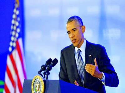 واشنگٹن: امریکی صدر بارک اوباما پریس کانفرنس سے خطاب کر رہے ہیں