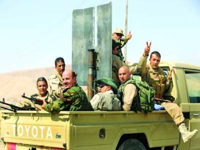 کردستان : کرد فوجی ایک علاقے میں گشت کررہے ہیں