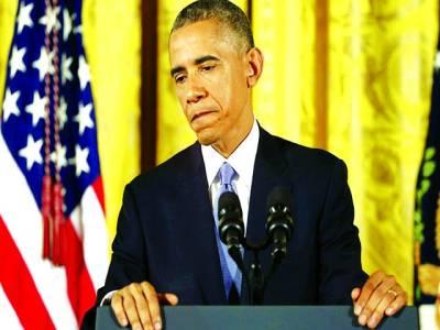 واشنگٹن: امریکی صدر بارک اوباما میڈیا سے خطاب کر رہے ہیں