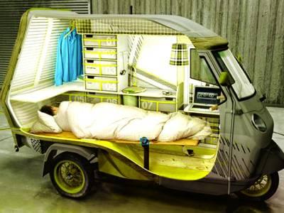نیویارک: ایک کمپنی کی طرف سے متعارف کروایاگیارکشا' جس میں ایک کمرے میں موجود تمام ضروریات کی سہولیات فراہم کی گئی ہیں