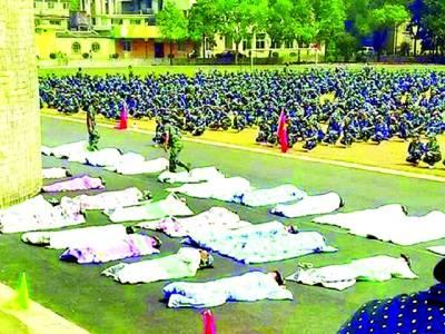 انوکھی سزا،یونیورسٹی کی لڑکیاں تپتی دھوپ میں کھلے آسمان تلے لیٹنے پر مجبور