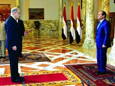 قاہرہ: مصری صدر نومنتخب وزیراعظم سے حلف لے رہے ہیں