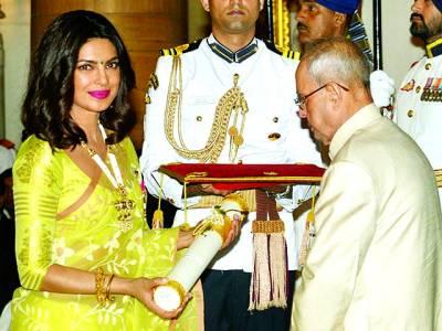 اداکارہ پرینکا چوپڑا کو پدما شری ایوارڈ دیا گیا